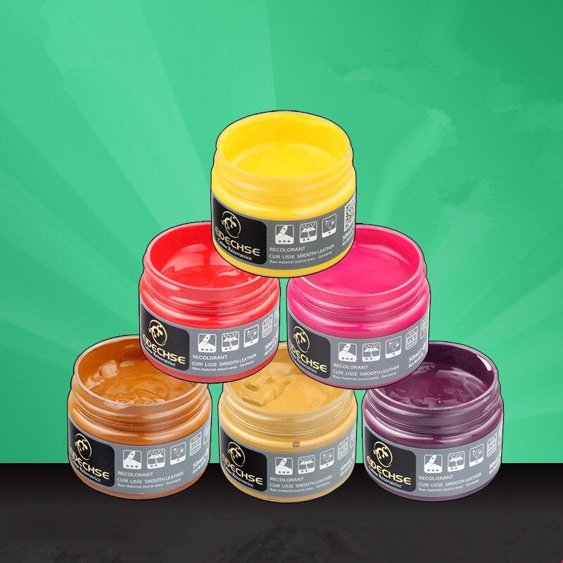 50 ml teñido de cuero agente/zapatos de cuero de reparación con colorear zapato polaco/bolsa y zapatos y ropa de color modificador de tóner pasta