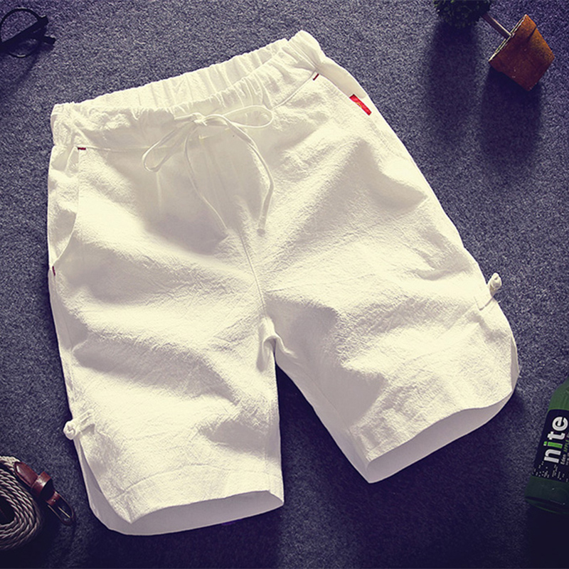 Men Shorts Chinese Style 2020 New Summer Fashion Thin And Light Male Casual Shorts Teenage Boy Linen Cotton Black White Gray