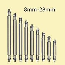 цена на 10pcs 10-25mm Watch Band Spring Bars Strap Link Pins Repair Watchmaker Tools 16mm 18mm 20mm 22mm 24mm