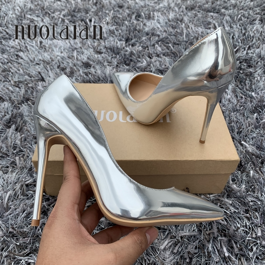 2019 Gold Silver Women Pumps Pointed Toe Thin High Heels Women Shoes Party Wedding Shoes Woman Sexy Ladies Shoes 12cm/10cm/8cm2019 Gold Silver Women Pumps Pointed Toe Thin High Heels Women Shoes Party Wedding Shoes Woman Sexy Ladies Shoes 12cm/10cm/8cm