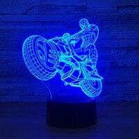 Spiderman noche luz creativa 3D escritorio Amazing Spiderman lámpara noche luz para niños pared Mesa IY803776