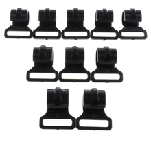10 Pieces Camping Tent Clips Accessories Outdoor Hook Clamp 2.5cm for Wind Rope Canopy