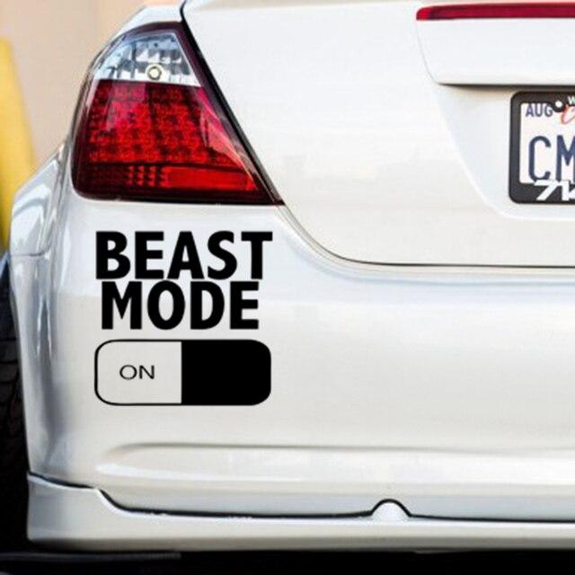 Beast mode on bumper sticker funny car window paintwork sticker vinyl decal
