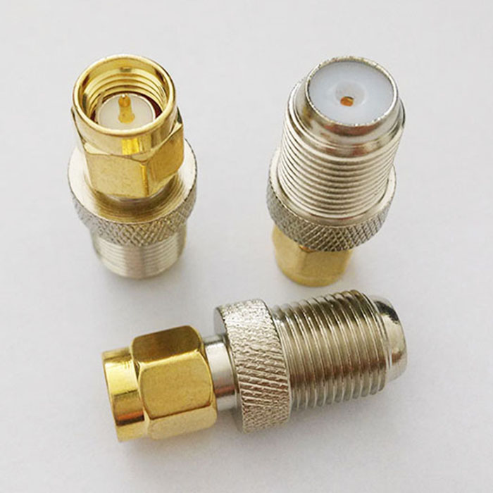 100pcs Gold SMA Male To F Female RF Connector Adapter