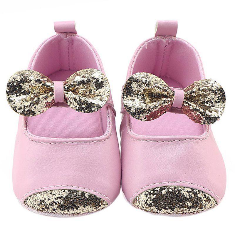 Высокое качество 2018 осень-зима одежда для малышей Обувь для девочек из искусственной кожи с бантом мягкая подошва Обувь для малышей Обувь д...