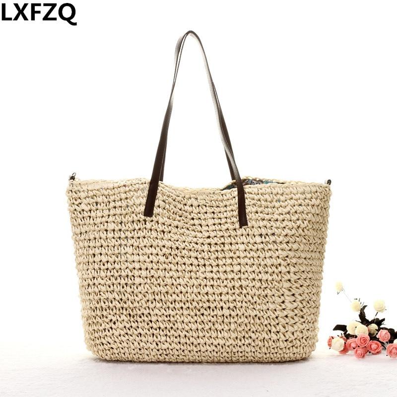 beach bag bolsos mujer bolsas feminina tote bag shoulder bags straw sac a main Clutch female сумки для детей zipit сумка premium tote beach bag