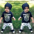 0-24 M Recién Nacido Sistema de la Ropa Del Niño Del Bebé Fijado Ropa Infantil Muchachos Trajes Transformer T Shirt Y Violín pantalones de Traje de Verano