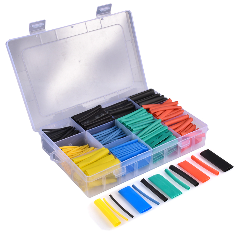 530PCS Heat Shrink Tubing 2:1  Eventronic Electrical Wire Cable Wrap Assortment Electric Insulation Heat Shrink Tube Kit Set|Terminals| |  - title=