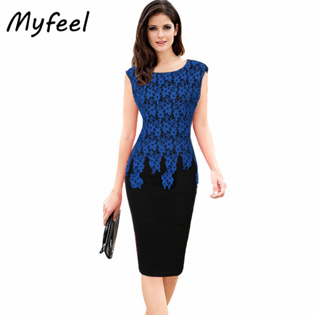Myfeel Women Midi Formal Dresses Summer Plus Size Party Sleeveless Evening  Lace Wrap Prom Fashion Club Dress for Wedding Guests a40344236