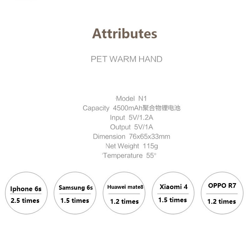 New High quality Hand Warmer Power Bank 4500mah (8)