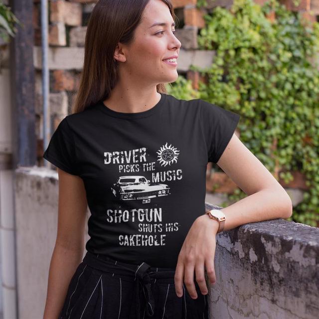 Supernatural Driver Picks The Music Short Sleeve T Shirt