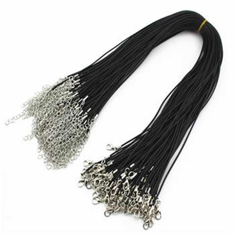 5 sztuk PU skóra naszyjnik łańcuszkowy Charms ustalenia sznurek 1.5mm gorąca sprzedaż dla mężczyzn i kobiet