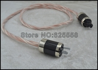 1M DIY Hi End Silver Plated+Telfon Copper hifi US Power cable Tube amplifier CD Player