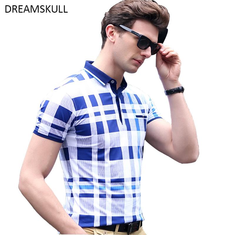 88935e285ed78 Camisa polo ocasional dos homens homens da moda curto manga xadrez suave  camisa polo camisa masculina camisa roupas de marca não bola em Polo de Dos  homens ...