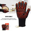 Anti Slip Easy Grip Silicone Barbeque Gloves Safety Protective Working Heat Resistant Gloves.