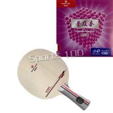 Ракетка для настольного тенниса, реактор DJ200, лезвие для настольного тенниса с 2 резиновыми наконечниками для настольного тенниса