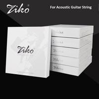 Ziko DPC Carbon Nano Anti Rust Coating Phosphor Bronze Coated Acoustic Guitar Strings, 10 47 11 52 12 54 with Free Guitar Pick