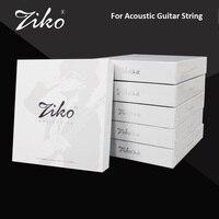 Ziko DPC de Carbono Nano Revestimento Anti-Ferrugem Phosphor Bronze Revestido Cordas Da Guitarra Acústica, 10-47 11-52 12-54 com Frete Da Picareta Da Guitarra