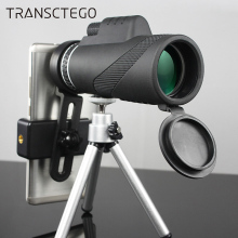 40x60 HD Monocular Telescope High Power Low Light Night Vision BAK4 Spotting Scopes Mobile Phone For Hunting
