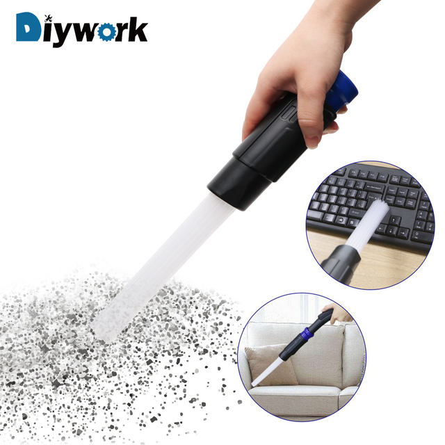 DIYWORK Straw Tube Dusty Brush Dirt Remover Brush Cleaner Cleaning Tool for Household Keyboard Air Vent Vacuum Attachment Tools