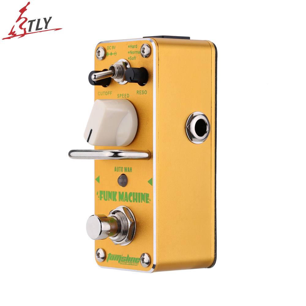 AROMA AFK-3 True Bypass Funk Machine Auto Wah Electric Guitar Effect Pedal Mini Single Effect Guitar Parts aroma aov 3 ocean verb digital reverb electric guitar effect pedal mini single effect with true bypass guitar parts