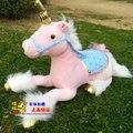 Peluche cerca de 85 cm mentira unicornio de juguete de felpa muñeca rosada de la alta calidad buen regalo w652