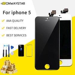 LCD manekin sklepowy dla iPhone 5 A1428 A1429 A1442 wymiana ekranu LCD dotykowy digitizer montaż dla iPhone 5 wyświetlacz LCD ekran + prezent Ekrany LCD do tel. komórkowych    -
