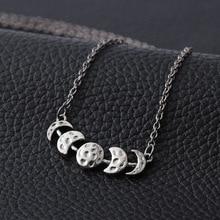 Винтажное ожерелье с подвеской в виде Луны для женщин, ожерелье с подвеской в виде лунного затмения, ювелирное изделие в виде Луны, Прямая поставка, Новинка