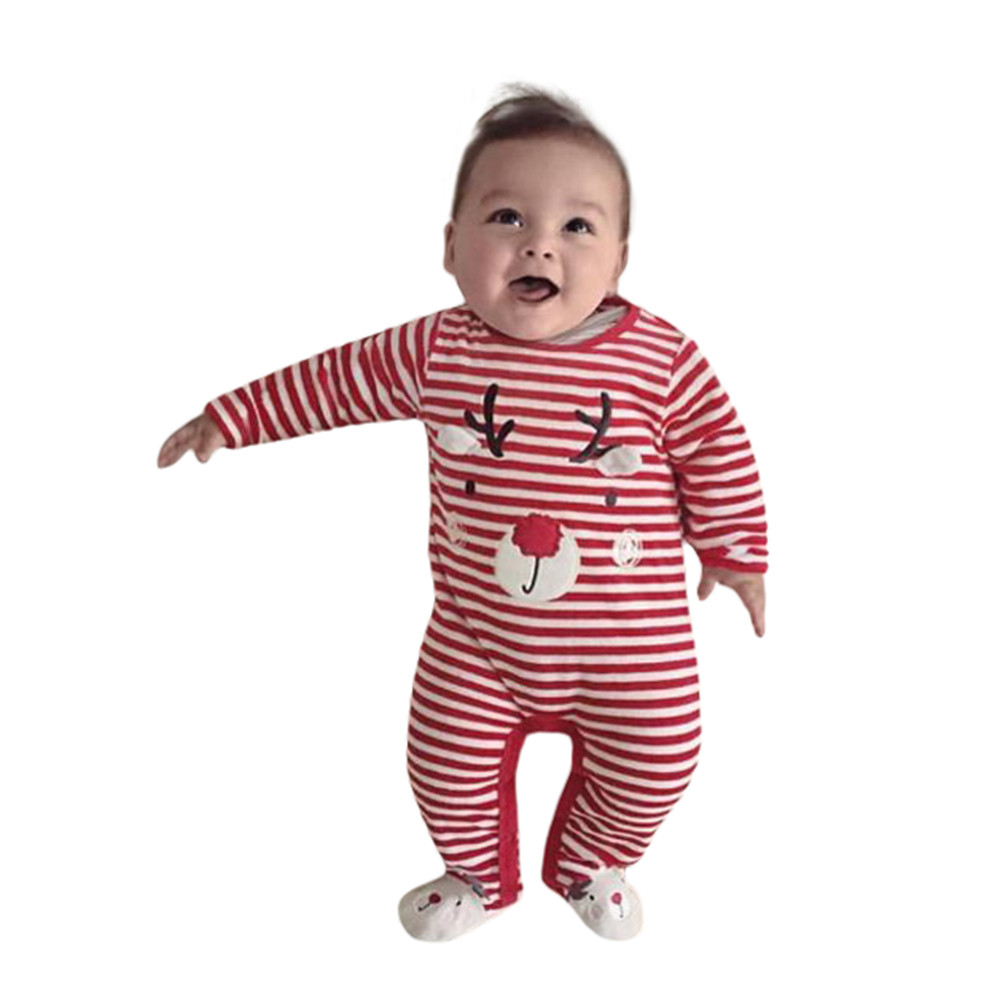 f8c6479e8432 Newborn Kid Baby Deer Christmas Boys Girls Outfits Clothes Romper Jumpsuit  Long Sleeve Baby Romper Baby Clothes