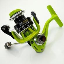 Paleamon BD500/650 high quality mini spinning fishing reel palm size colorful metal spoil fish wheel BB5+1 green white reell