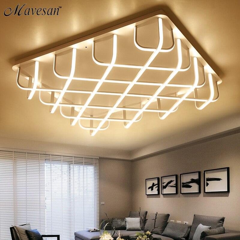Nouveau Acrylique moderne led plafonniers pour le salon Chambre En Aluminium Blanc AC85-265V Accueil Plafond Lampe luminarias par sa