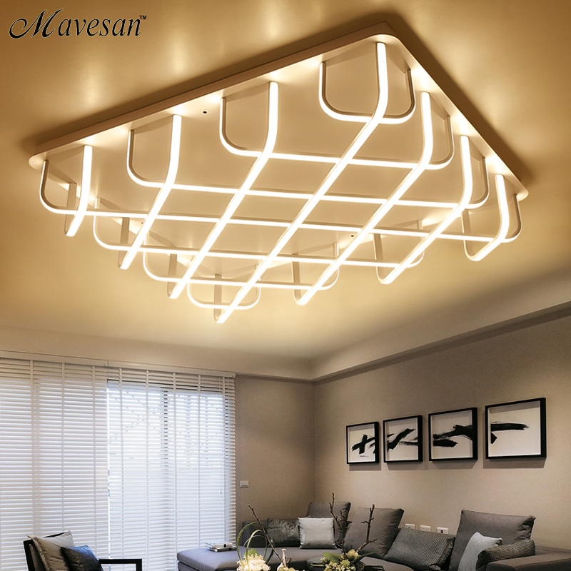 Surface Mounted Modern Led Ceiling Lights For Living Room Bedroom Aluminum White AC85 265V Home