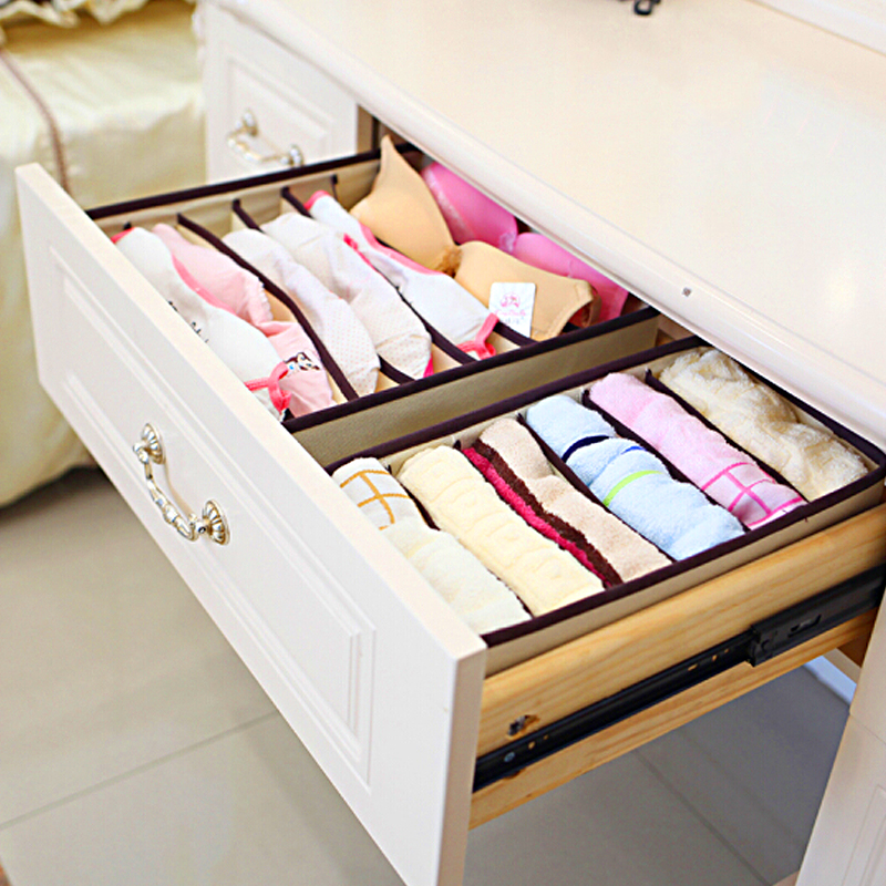 Foldable Organizer For Underwear Socks Bra Drawer Organizers Closet Underwear Organizer Drawer Divider Storage Box
