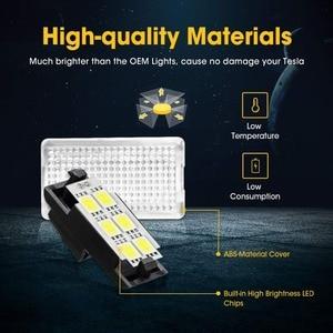 Image 2 - 12pcs LED אור נורות ערכת עבור טסלה דגם Y דגם 3 דגם S דגם X LED פנים אור בהיר קל Plug החלפת שדרוג