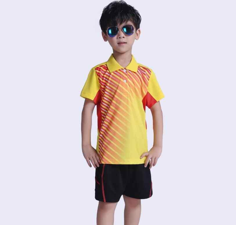 เด็กใหม่เสื้อแบดมินตัน, quick Dry men ตารางเทนนิส Polo jersey Breathable ชาย/หญิงแบดมินตันและเทนนิสกีฬากางเกงขาสั้น