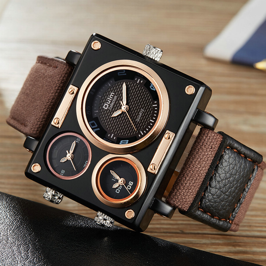 OULM hombre superventas reloj militar moda Top marca de lujo al por menor Vip gota reloj Nato correa de los hombres reloj