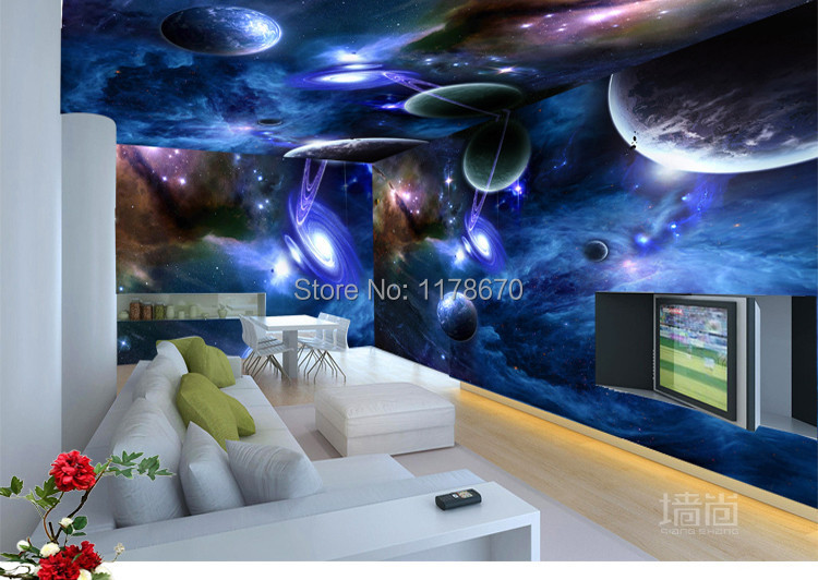 Wholesale 3D Personalized Custom Galaxy Star Restaurant KTV Room Ceiling Bedroom  Theme Wallpaper Mural Wallpaper Adhesive In Wallpapers From Home ...