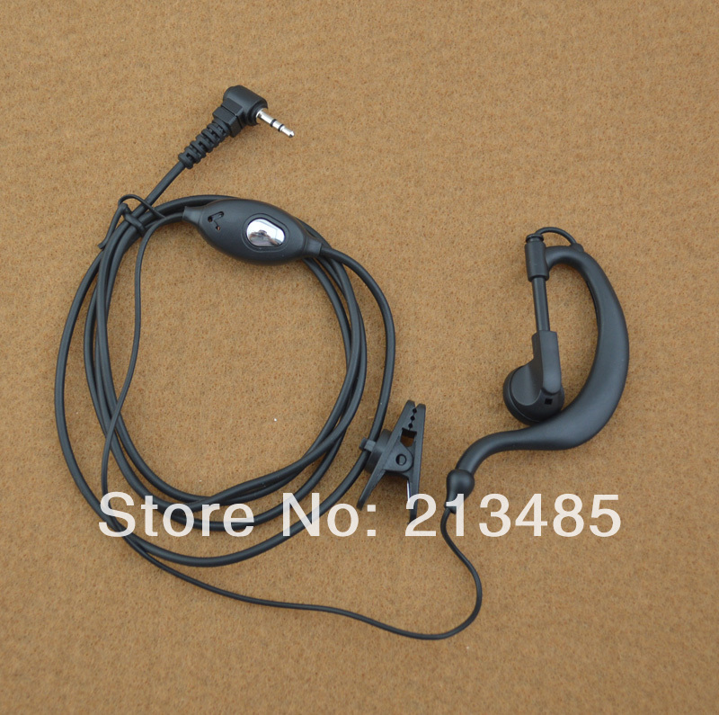 Uniden Radio 1-Pin (2.5mm Jack) Earpiece Headset Microphone With PTT For Uniden GMR3699-2CK PMR845 GMRS480 FRS1400-2  TR620