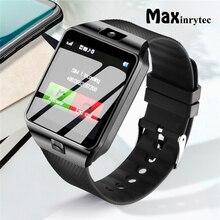 DZ09 Смарт-часы телефон шагомер поддержка SIM TF карта смарт-часы Мужчины Женщины Bluetooth Вызов сообщение для умные часы для телефона на Android