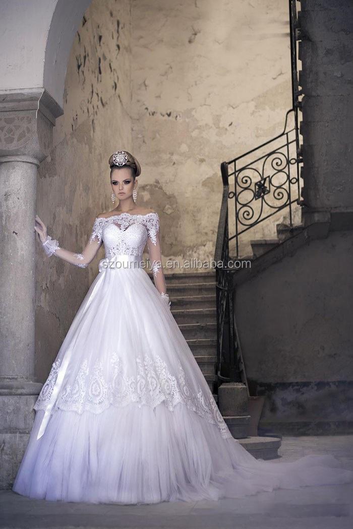 Princess Wedding Dresses with Gloves