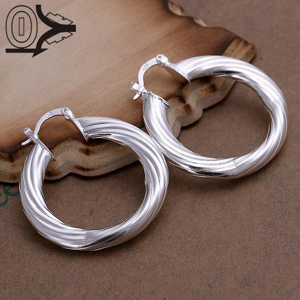 Popular Jewelery Silver Color Hollow Twisted Line Stud Earrings Women Fashion Earrings Jewelry Wholesale Brincos Female