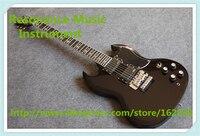 Лидер продаж Китай черная глянцевая Тони lommi SG Электрический Гитары с хром Floyd Rose тремоло для продажи