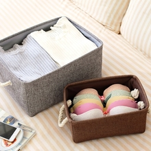 Laundry Storage Basket Cotton Waterproof Folding Eco-friendly Sundries Clothes Toy Home Storage Organization Box With Cover