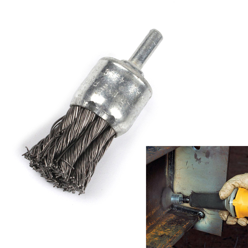 1pcs Stainless Steel Wire Knot End Brush  With 1/4