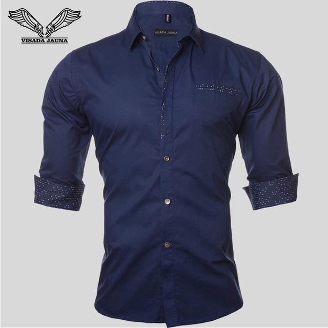 Más el Tamaño 5XL de Los Hombres Camisa de Manga Larga de Color Sólido Casual de Negocios de Algodón Marca Vestido de Ropa Delgada Camisa Masculina Social N724