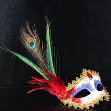66084780ee349 Christmas Halloween Mask High Quality Exquisite Mystery Peacock Feathers  Venice Dance Mask Masquerade Birthday Party Accessories