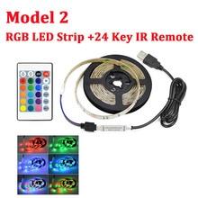 3528 USB LED Strip Light 5V Color Changing String Tape Ribbon Waterproof White/ Warm 1M 2M 3M 4M 5M RGB RF Or IR Controller DIY