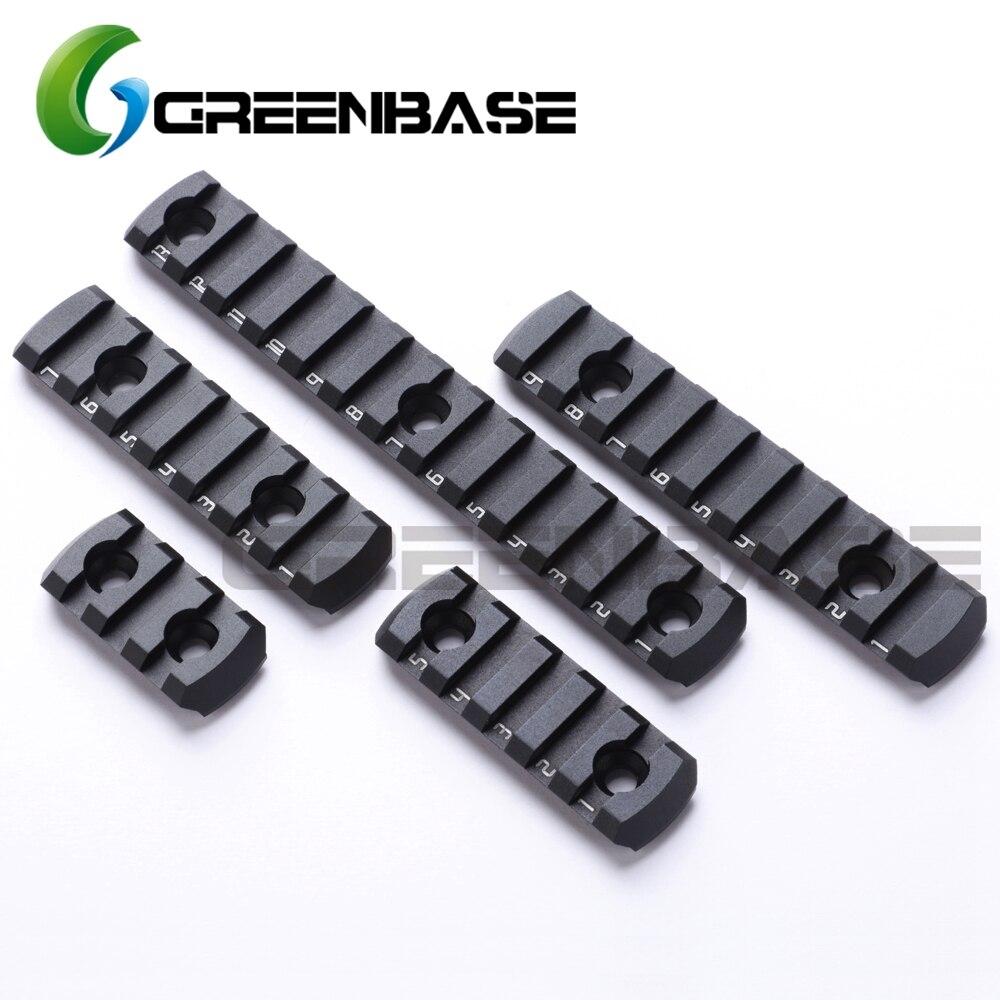 Greenbase Ultrathin MLOK Rail Section AR15 M4 M16 M-lok Handguard 20mm Picatinny Rail Adapter 3/5/7/9/13 Slot Tactical Rail Base