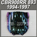 Motorcycle Accessories Light iridium Magic color Windshield / Windscreen For Honda CBR900RR 893 1994 1995 1996 1997
