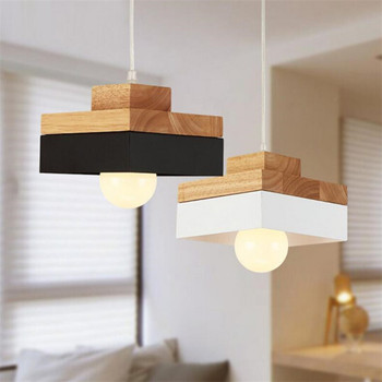 Nordic Designer Pendant Light Solid Wooden And Iron Suspension Lamparas For Kitchen Hallway Home Deco E27 Fixture Lights Lustres